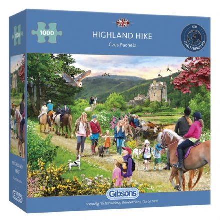 Highland Hike by Czes Pachela 1000 Piece Gibsons Jigsaw